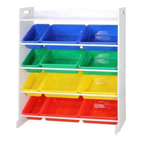 Kid's Books/toys Storage, Four Layered Plastic Cabinet Rack