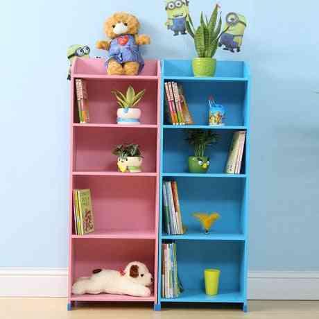 5 Layered Wooden Kid's Bookshelf Rack