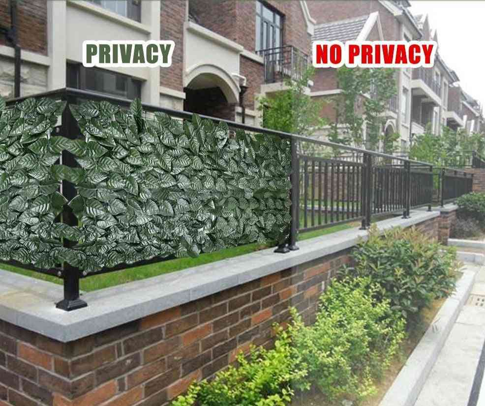 Artificial Leaf Fence For Garden Decoration/balcony