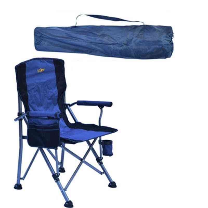 Sturdy Folding Lawn Chair With Hard Arms And Portable Carry Bag Comfortable For Outdoor