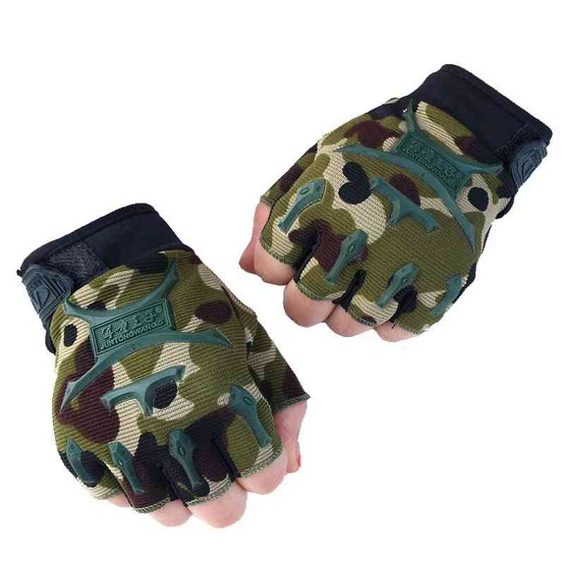 Boys Breathable Half Finger Mitten Gloves
