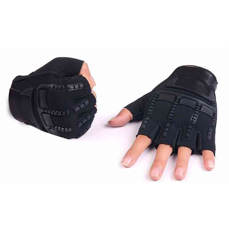 Army Tactical Fingerless Gloves, Men Anti-skid Half Finger Combat Glove