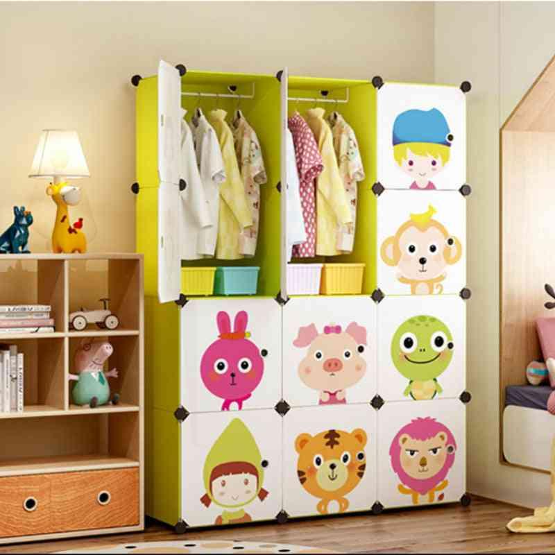 Cartoon Baby, Wardrobe Cloth Assembled, Plastic Cabinet