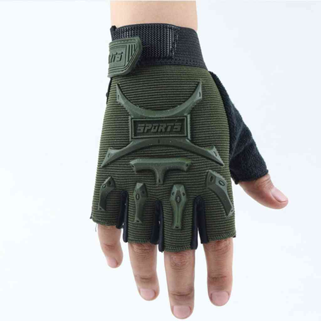 Outdoor- Sport Training, Anti-slip Gloves With Wrist Support For
