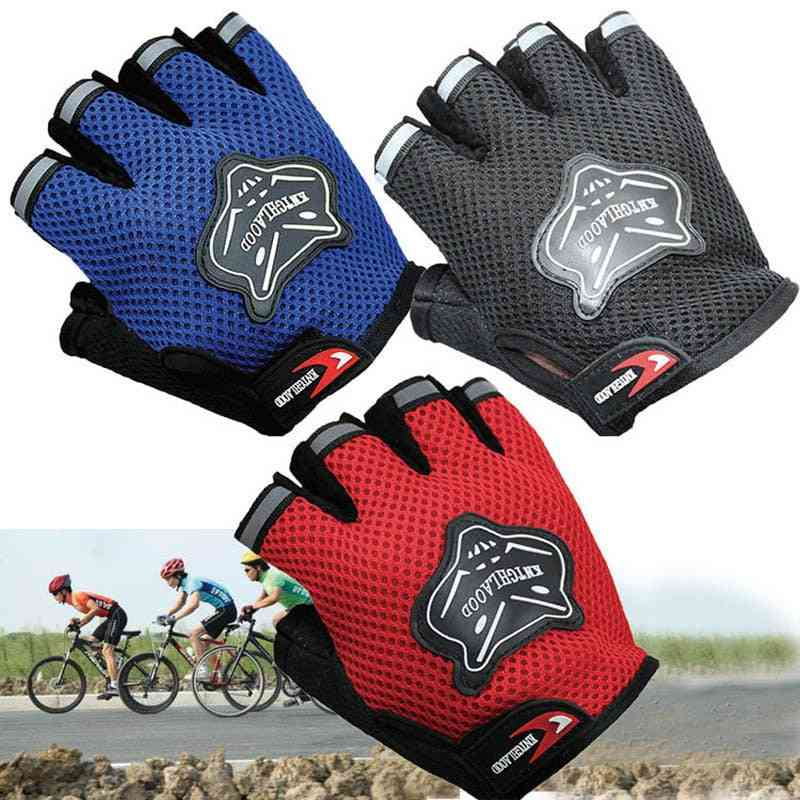 Half-finger, Anti-slip Gloves For Sports Riding Cycling