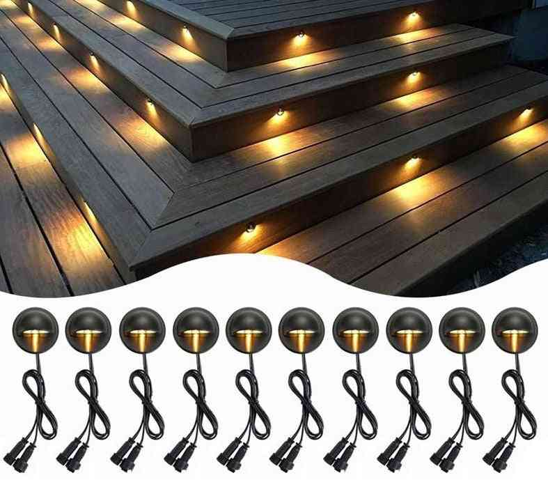 Half-moon Smd5050, Garden Pathway, Step Stair Lamp Decor - Waterproof Outdoor Light