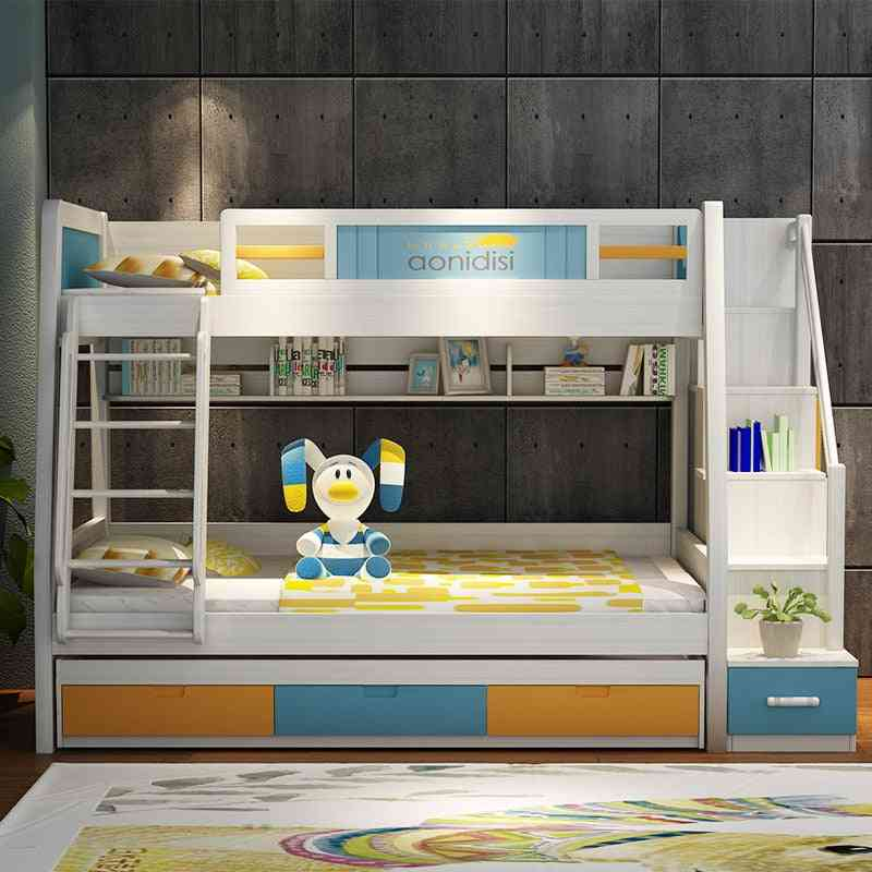 Children High And Low Solid Wood Furniture Bed