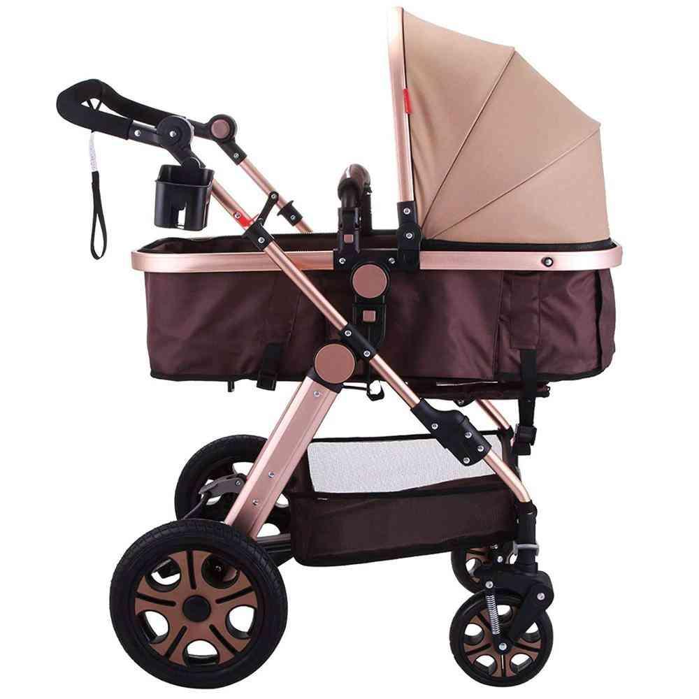 Portable Foldable Baby Stroller, Adjustable High View Pram