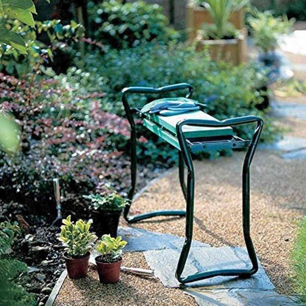 Portable Garden Kneeler With Handles Folding Stool/chair With Eva Kneeling Pad