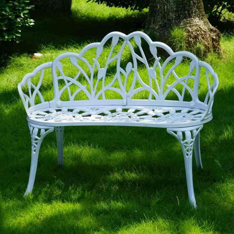 Loveseats Cast Aluminum Leisure Patio Benches / Path Chair