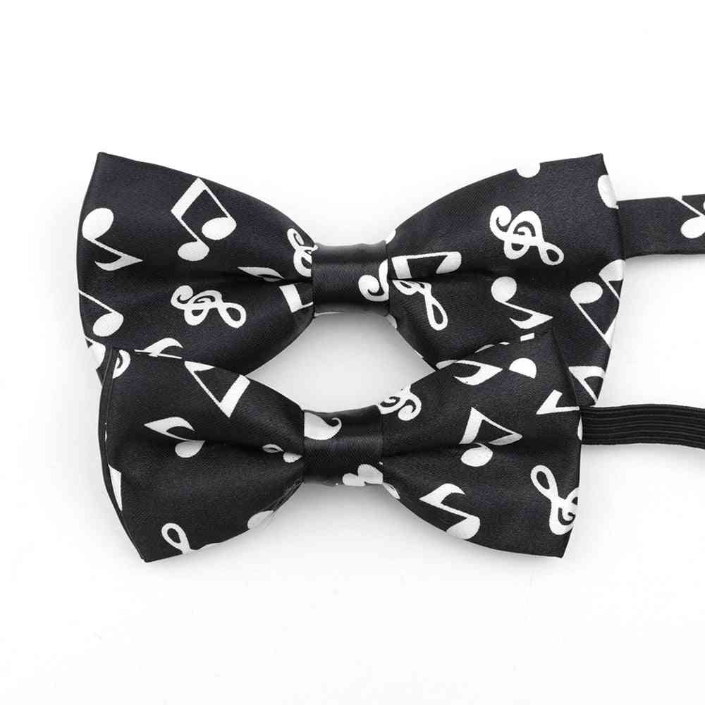 Piano Stave Guitar Plaid Cute Bow Tie Accessory