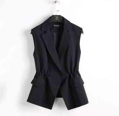 Vest Suit, Short Style, Elastic Waist, Slim Elegant ,tops Jackets