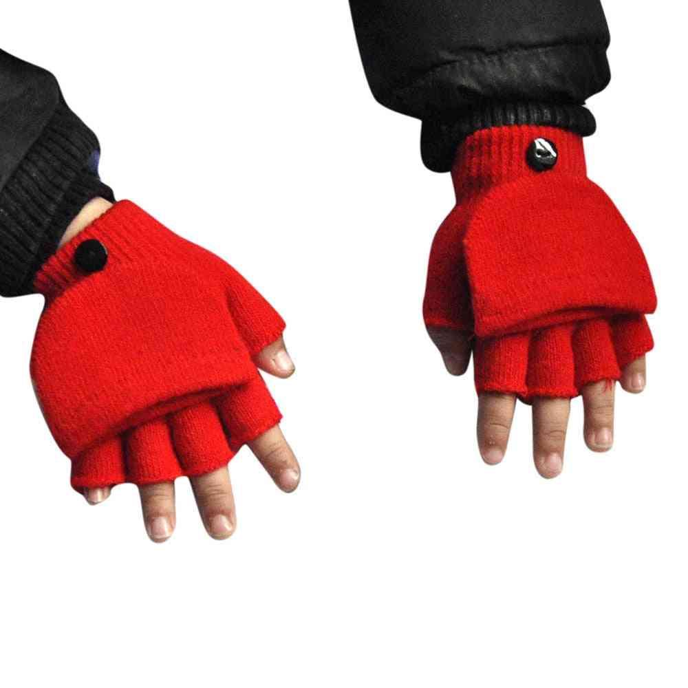Winter Hand-wrist, Warmer Flip-cover, Fingerless Gloves For,