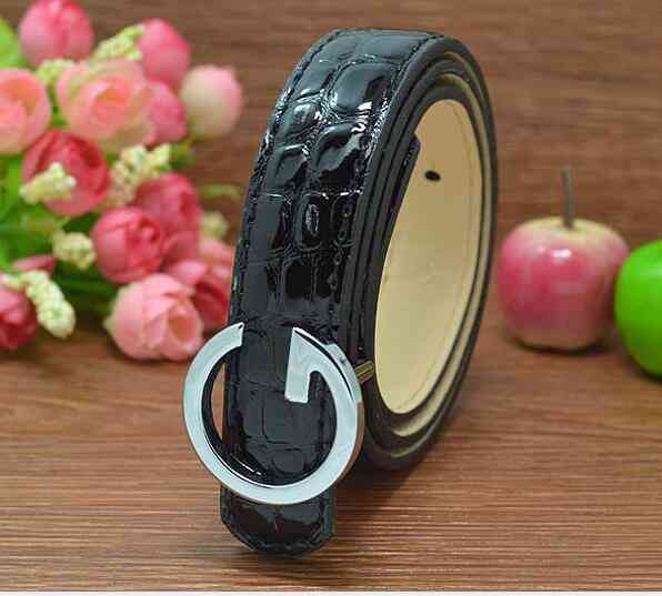 Pu Leather Kid's Belt With Metal Buckle