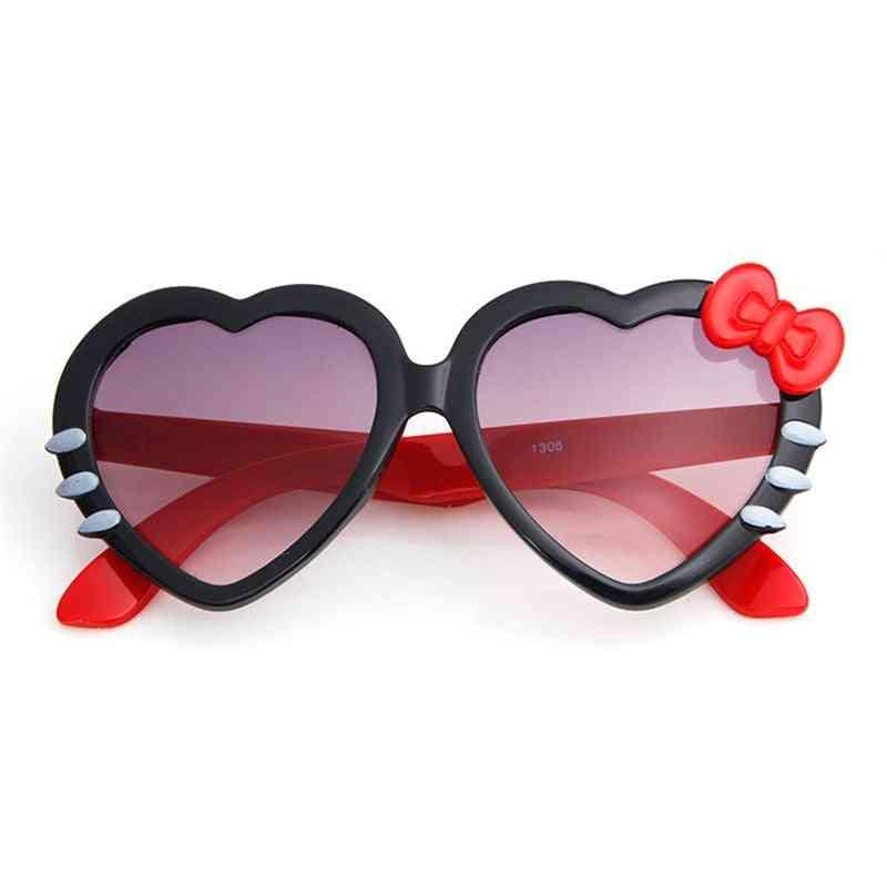 Cute Heart Bow Cat Sunglasses, Summer Cartoon Eyewear