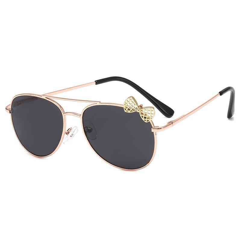 Cute Style, Metal Frame And Uv Proof Sun Glasses