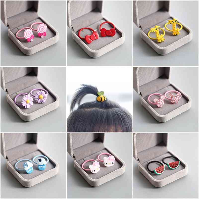 Cute Baby- Animal, Fruit, Hair-ring, Rubber Elastic, Hair-band Accessories