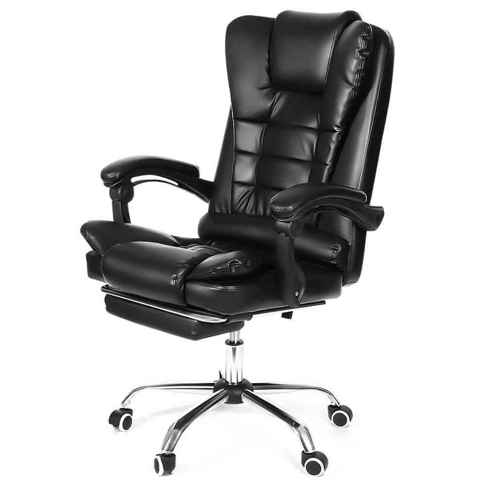 High Back Gaming/office Chair, Recliner Computer Pu Leather Seat Gamer Office Lying Armchair With Footrest