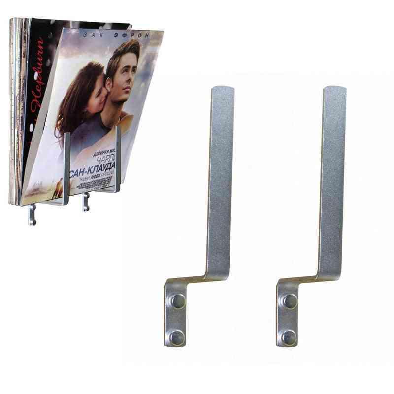 1 Pair- Aluminum Singles Stand, Holds Storage Rack For Vinyl Record, Magazine
