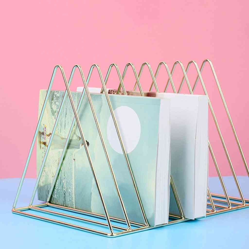 Desktop Book Storage Rack Bookshelf Magazine Holder Nordic Style Display