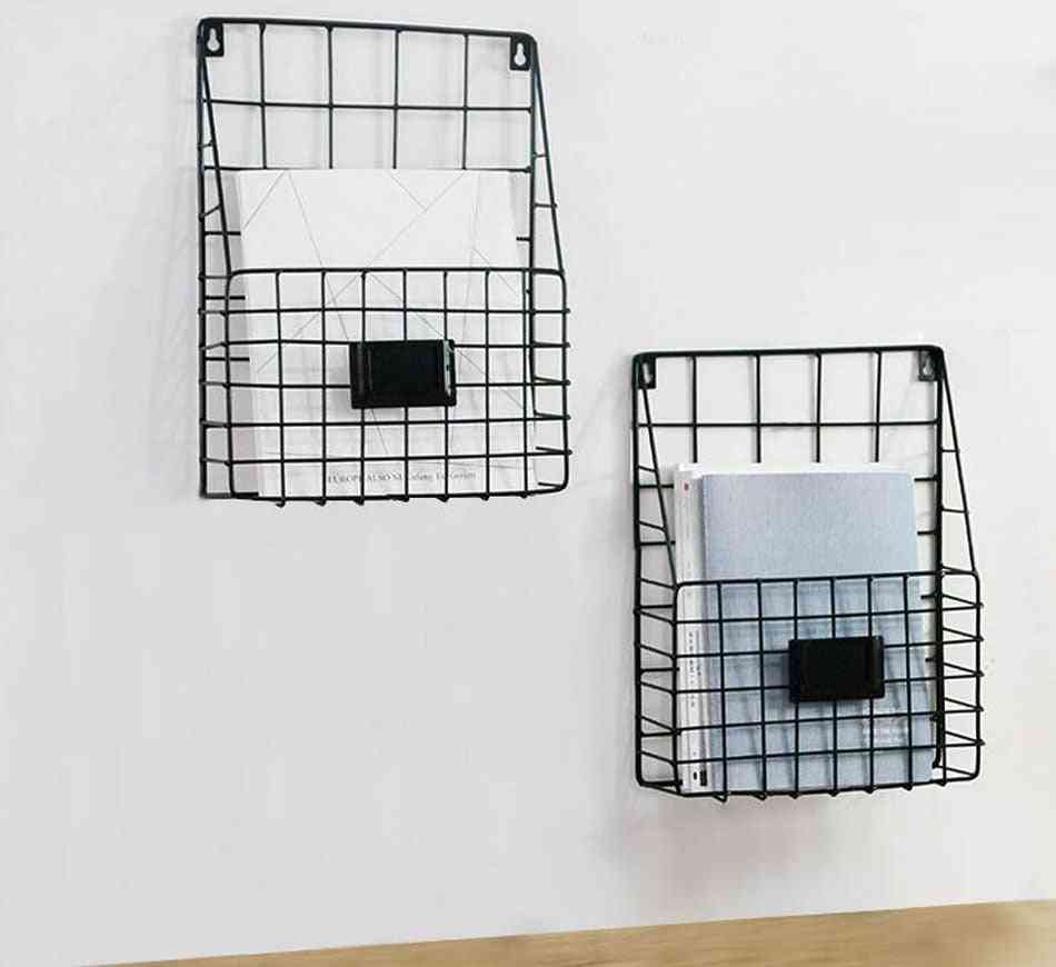 Contracted Iron Art Wall Hanging Storage Basket