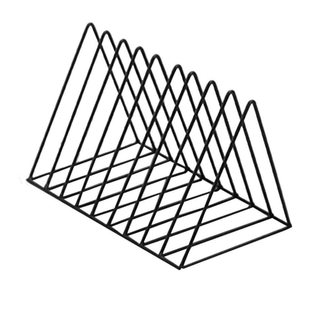 Triangular Desktop Book Rack, Metal Wire Bookshelf