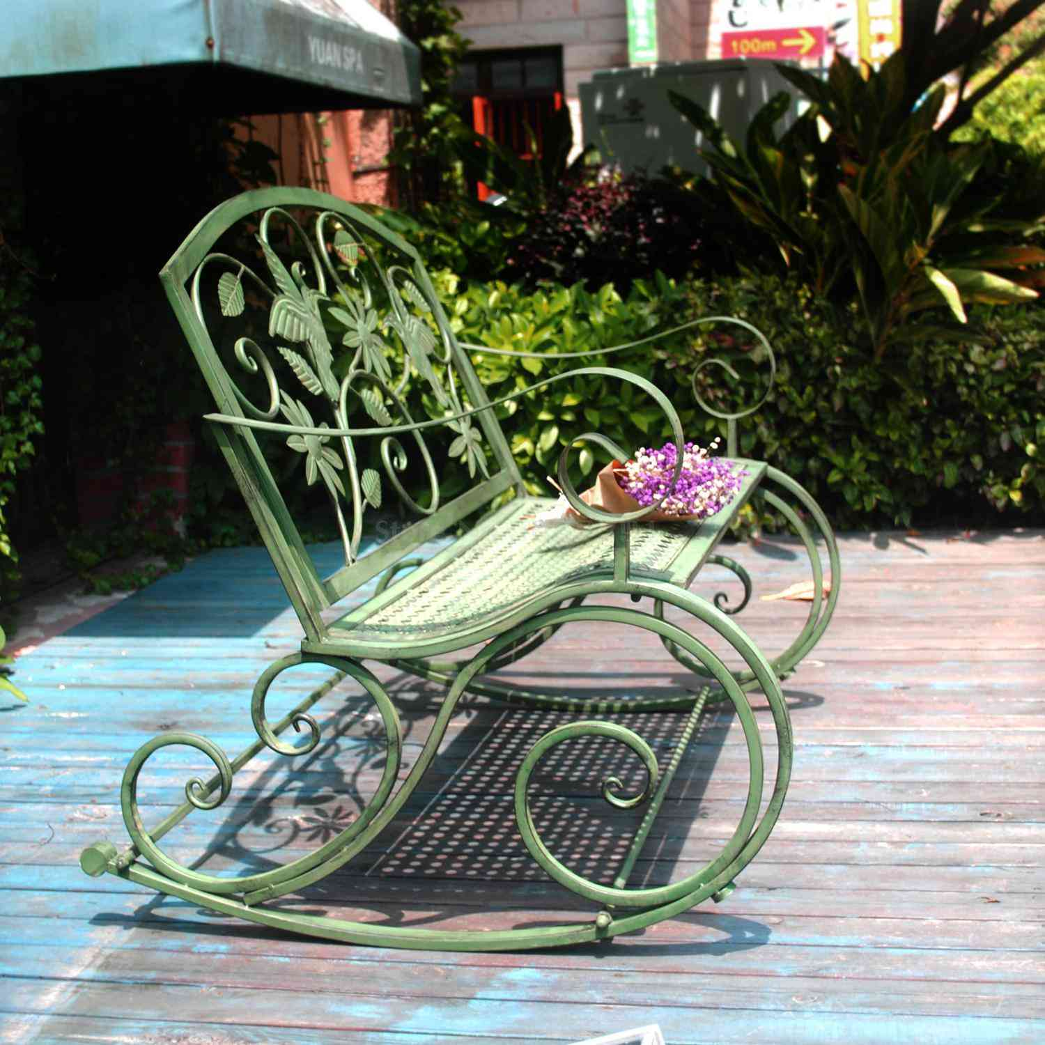 Outdoor Double Rocking Chair / Bench