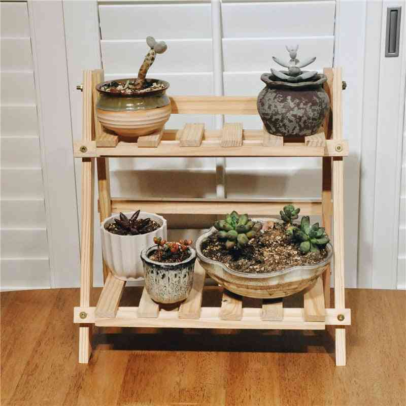 2tier Wooden Shelves  For Plant Display
