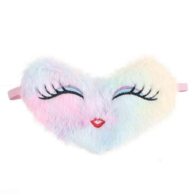 Heart/owl Shaped Plush Sleeping Eye Mask