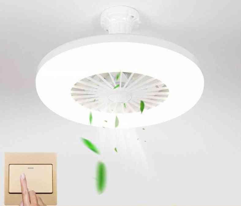 Bedroom Decor Ventilator Lamp 28cm Air Invisible Blades Restroom E27 220v