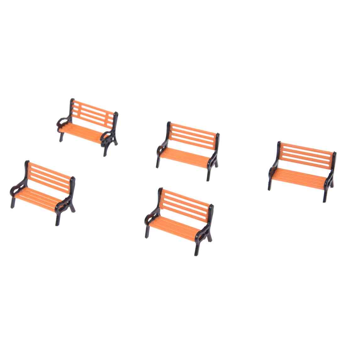 Model Train Platform Park Street Seats/bench