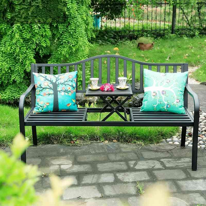 Outdoor Creative, Tea Table Chairs, Iron Folding, Leisure Coffee Table