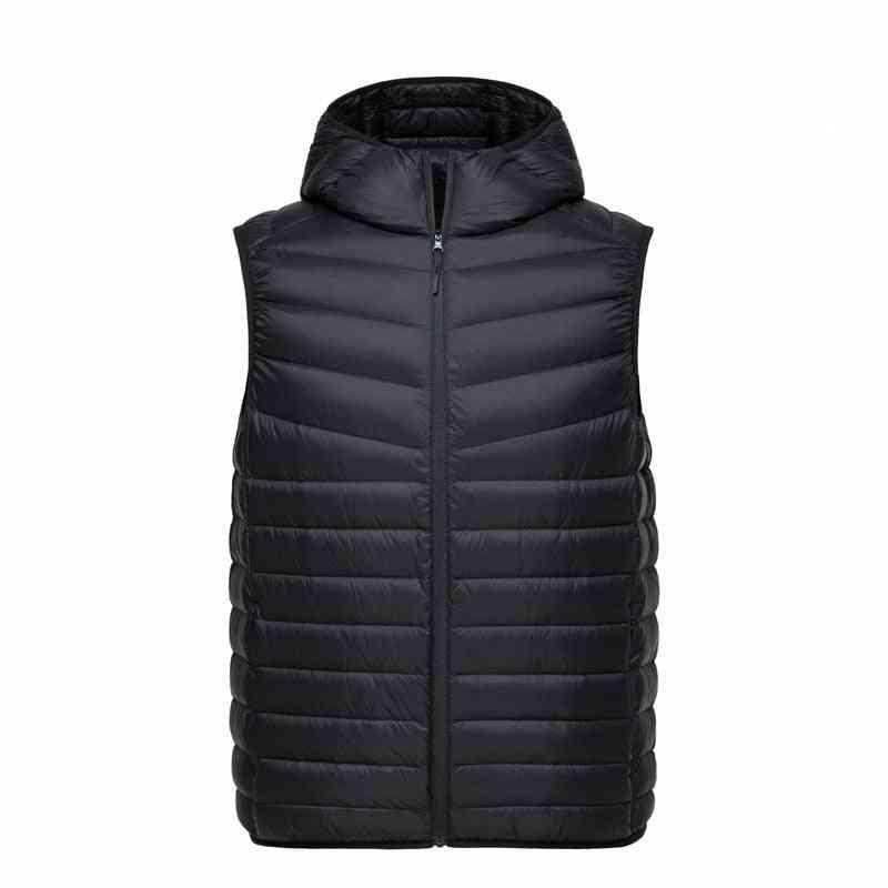 Lightweight Hooded Vest-waterproof Warm Waistcoat