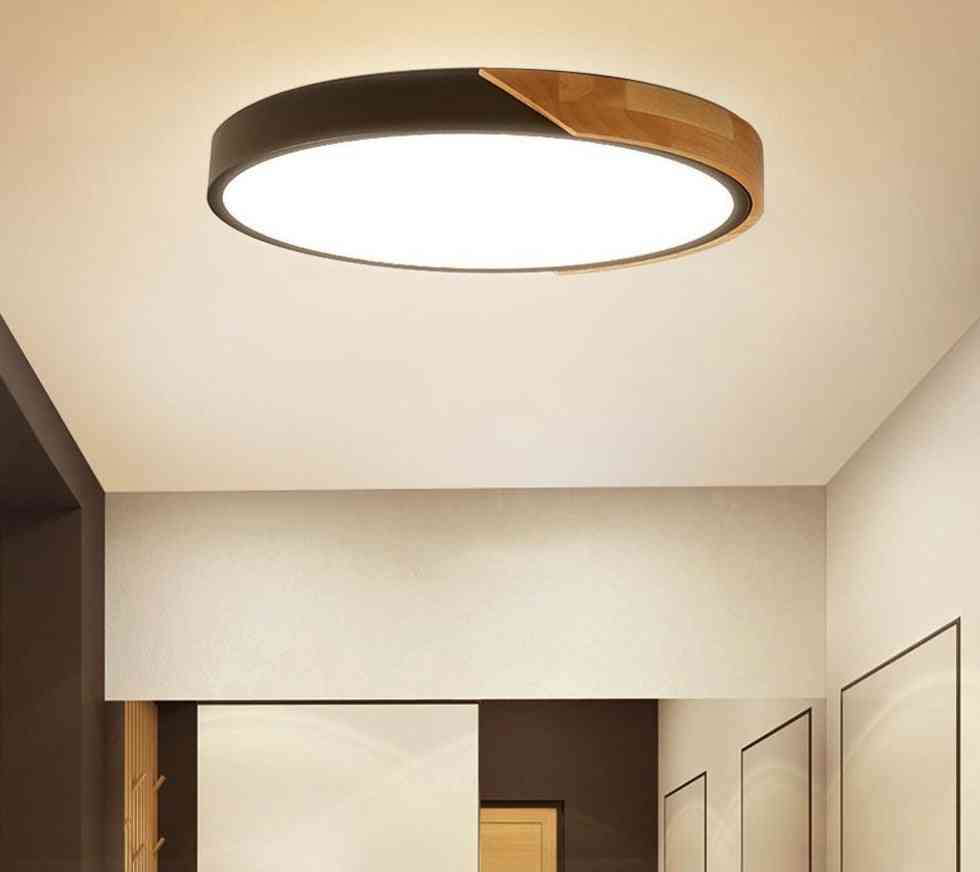 Modern Led Ceiling Light Ultra Thin Lamp For Home Decor With Remote Control Set2