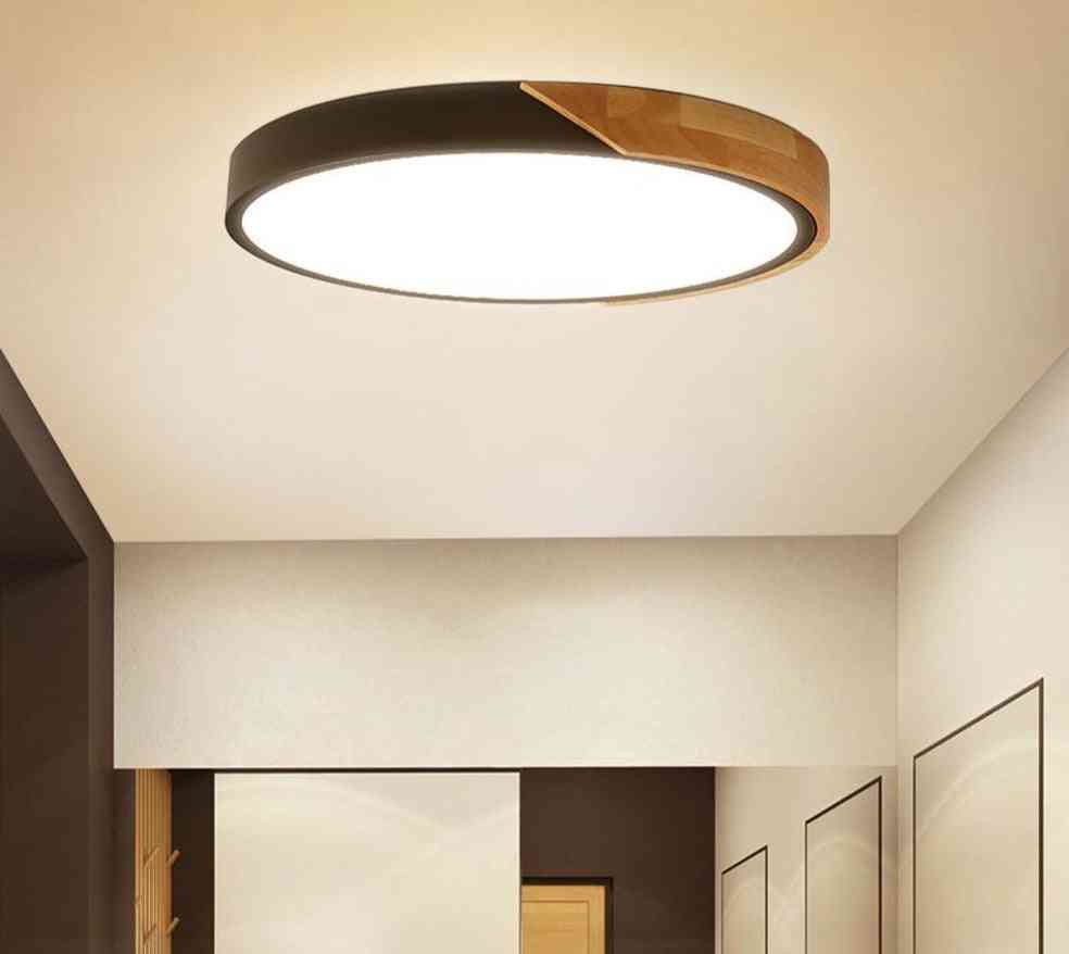 Modern Led Ceiling Light Ultra Thin Lamp For Home Decor With Remote Control Set1
