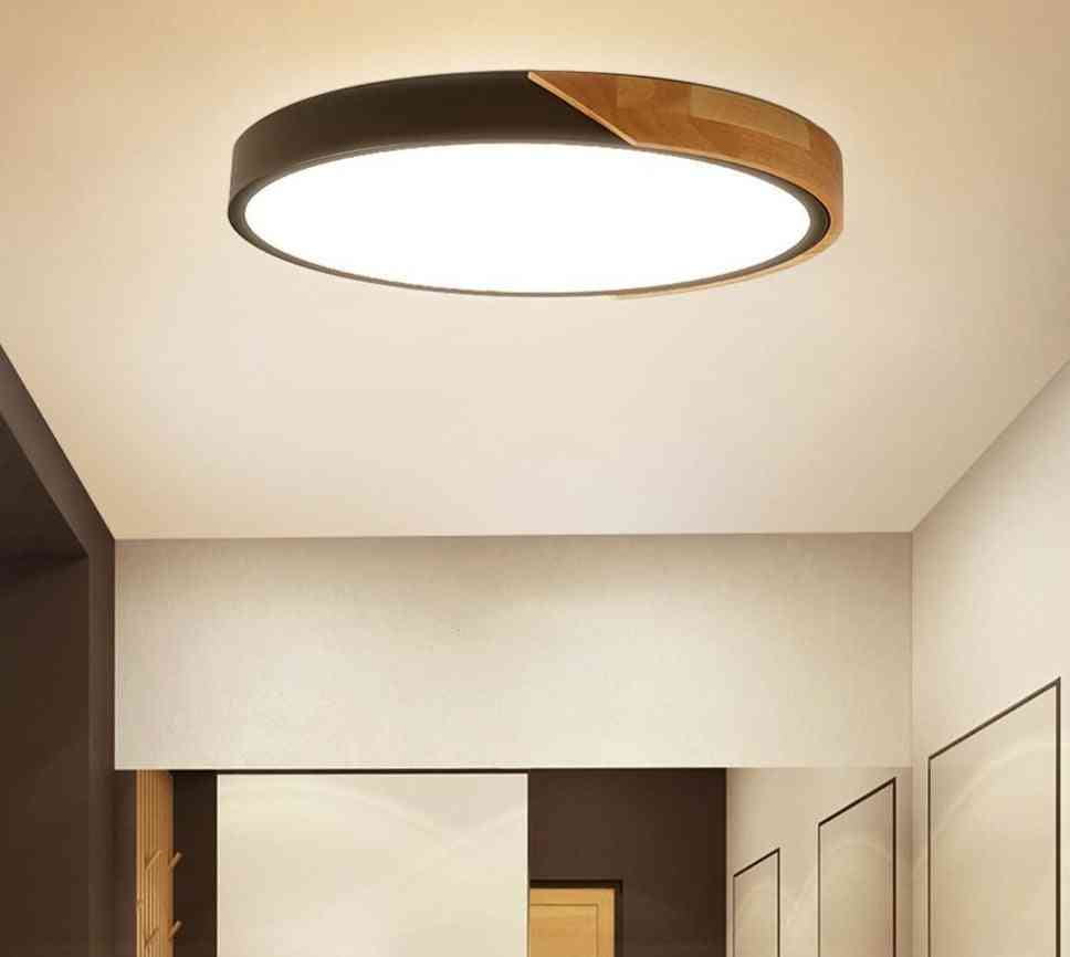 Modern Led Ceiling Light Ultra Thin Lamp For Home Decor With Remote Control Set4