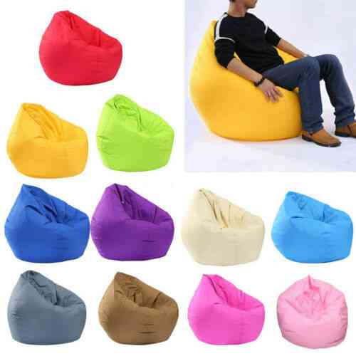 Unfilled Lounge Bean, Cozy Single Chair  Lazy Sofa