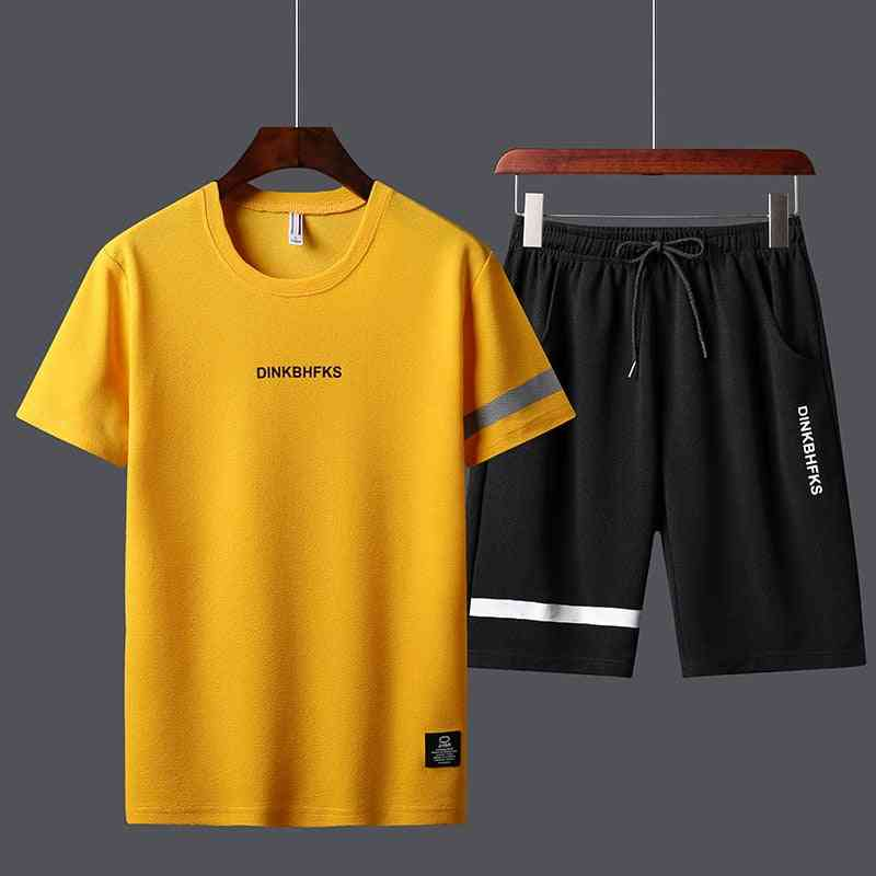 Summer Men's Sport Track Suits T-shirts & Shorts Sets