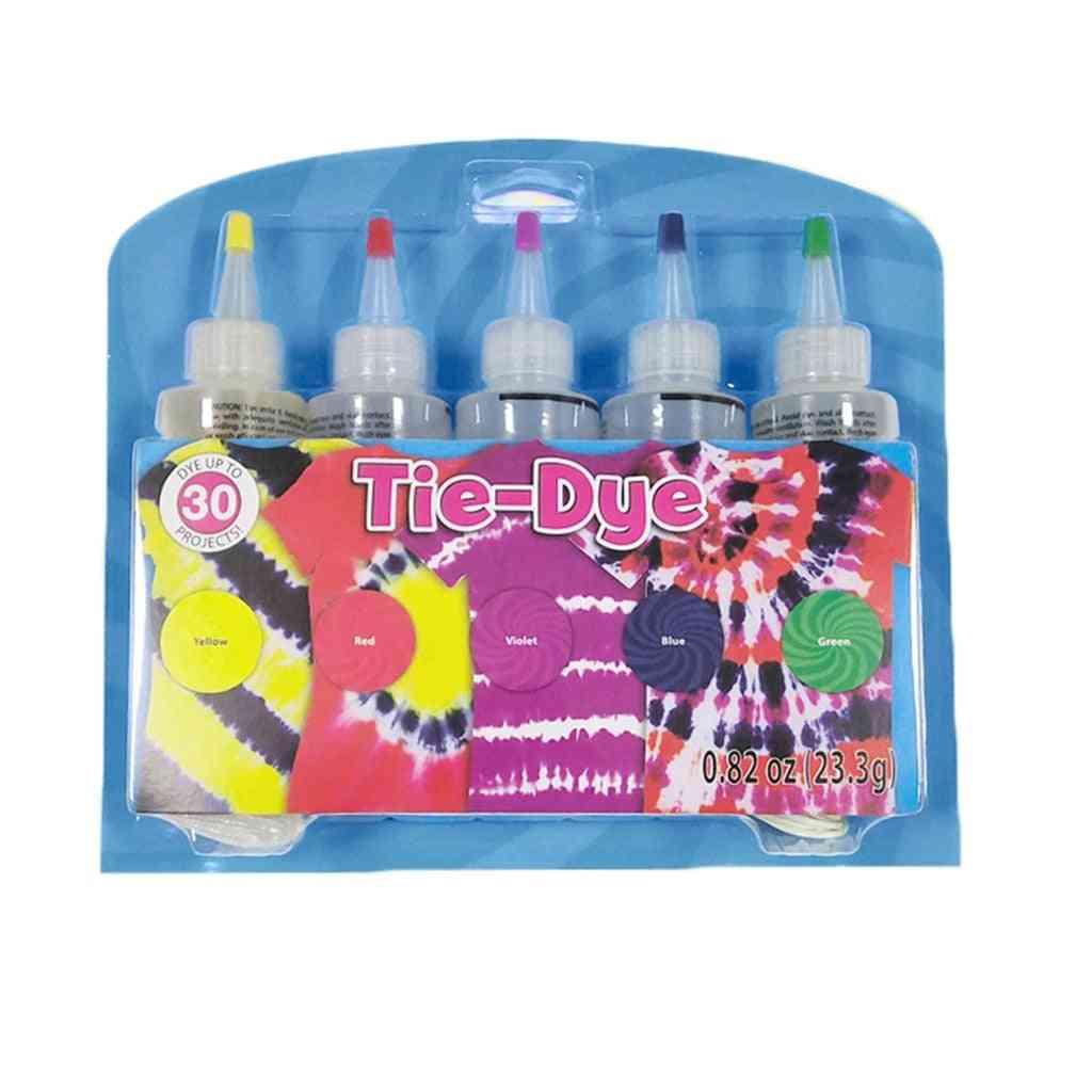 5 Colors Non-toxic Tie-dye Kit For Cotton/linen Clothing