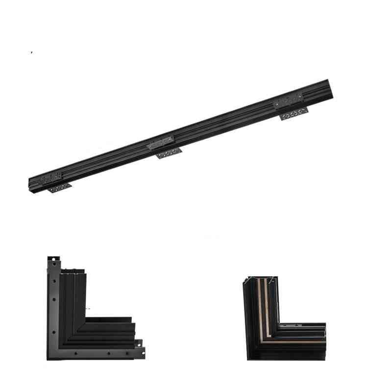 24v Creative Aluminum 24mm Recessed Tracks Rails For Magnet Track Lights Series