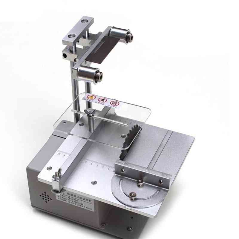 Table Micro Chainsaw, Multi-function Mini Precision Desktop Cutter Woodworking Saw