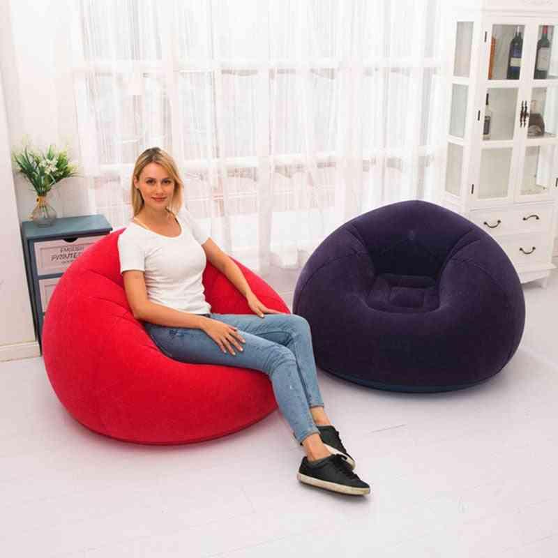 Flocking Pvc, Sofa Chair, Bean Bag- Garden Lounge, Backpacking