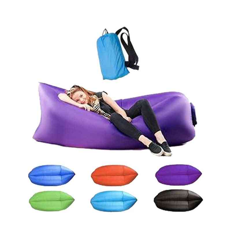 Inflatable Lounger Sofa, Sleeping Bag, Air Bed For Outdoor Camping