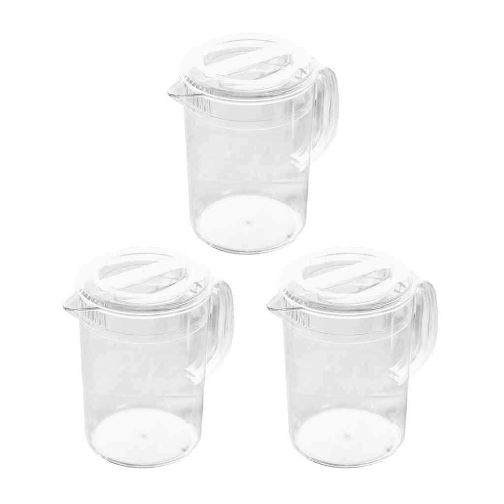 Acrylic Pitcher With Lid For Water, Tea, Lemonade & Milk Storage