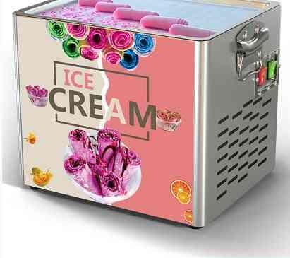 Thai Ice-cream Machine, Stainless Steel Fried Ice Machines Pan