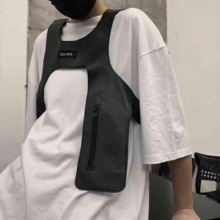 Men/ Women Streetwear Tactical Light Vest - Rap Tide, Hip-hop Harness Cloth
