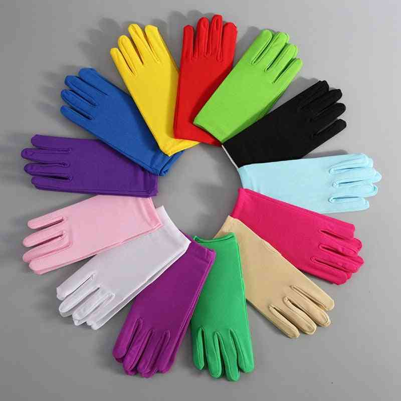 Pair Of Short Spandex Gloves