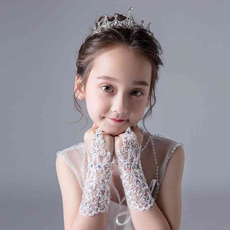 Fashion Beauty Girl Fingerless Wedding Gloves Lace For Wedding Accessories