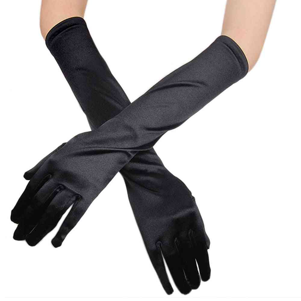 Women's Satin Long Evening Party Fashion Gloves