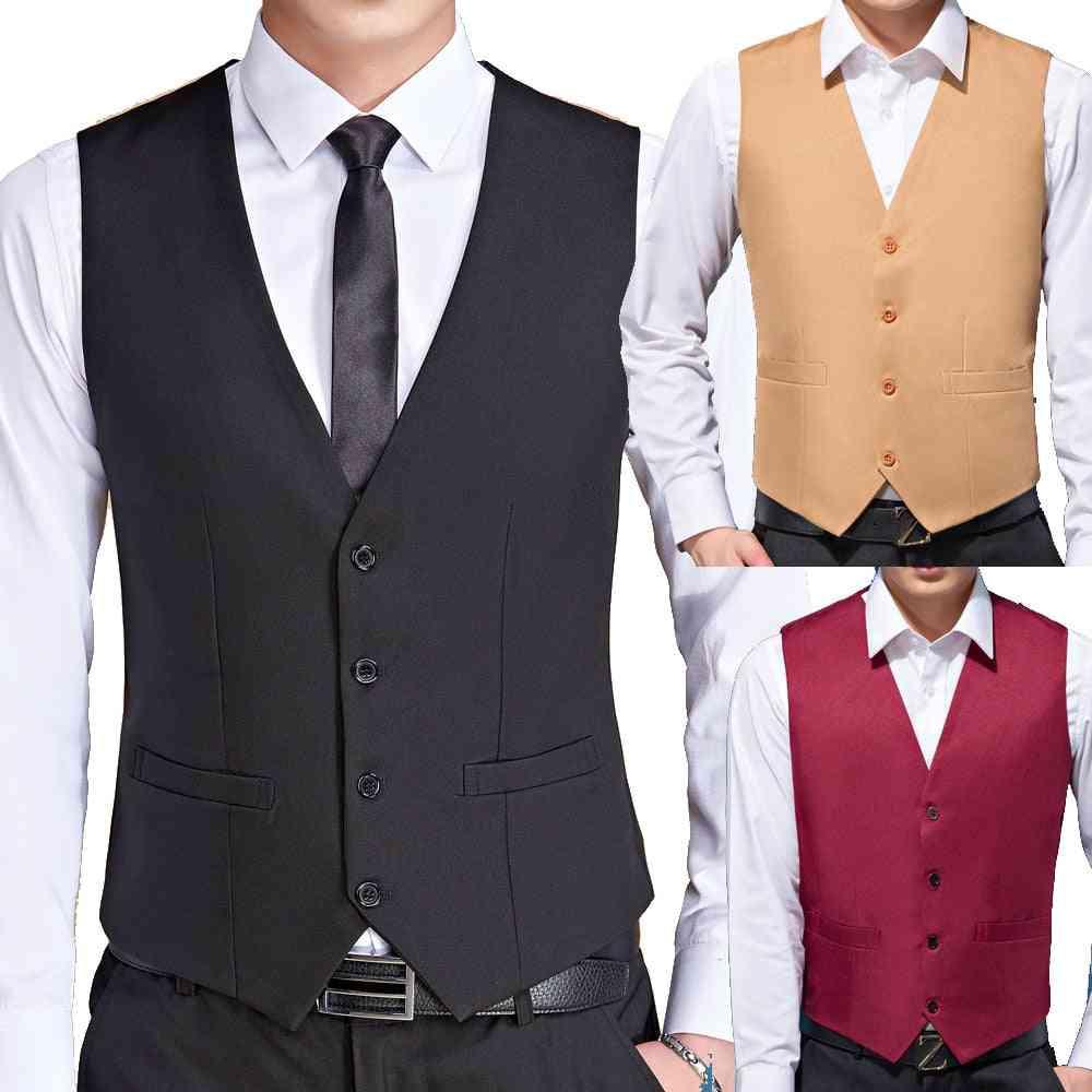 Slim Fit Wedding Suit Vests-formal Tuxedo Waistcoat
